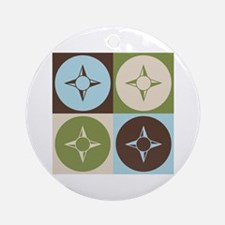 Geography Pop Art Ornament (Round)