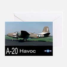 A-20 Havoc Bomber Greeting Card