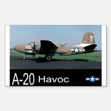 A-20 Havoc Bomber Rectangle Decal