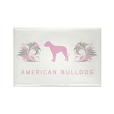 """Elegant"" American Bulldog Rectangle Magnet"
