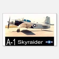 A-1 Skyraider Attack Bomber Rectangle Decal