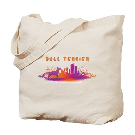 """City"" Bull Terrier Tote Bag"