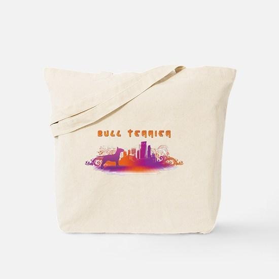 """""""City"""" Bull Terrier Tote Bag"""