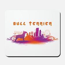 """""""City"""" Bull Terrier Mousepad"""