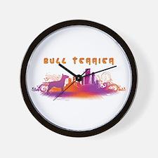 """""""City"""" Bull Terrier Wall Clock"""