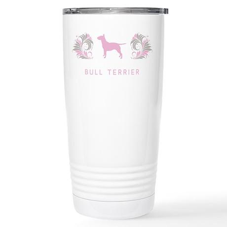 """""""Elegant"""" Bull Terrier Stainless Steel Travel Mug"""