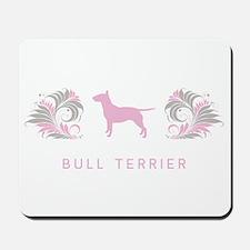 """""""Elegant"""" Bull Terrier Mousepad"""