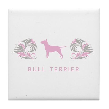 """""""Elegant"""" Bull Terrier Tile Coaster"""
