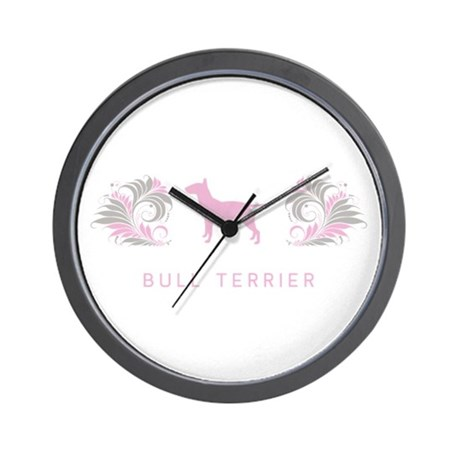 """Elegant"" Bull Terrier Wall Clock"