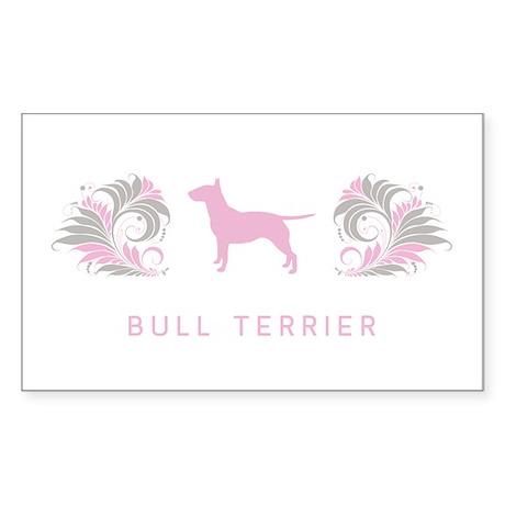 """""""Elegant"""" Bull Terrier Rectangle Sticker"""