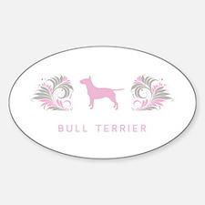 """""""Elegant"""" Bull Terrier Oval Decal"""
