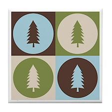 Forestry Pop Art Tile Coaster