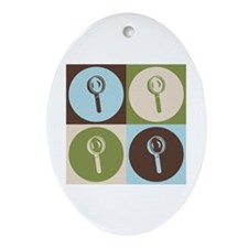 Forensic Science Pop Art Oval Ornament