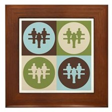 Foosball Pop Art Framed Tile