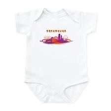 """""""City"""" Dachshund Infant Bodysuit"""