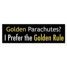 Golden Parachutes Bumper Bumper Sticker