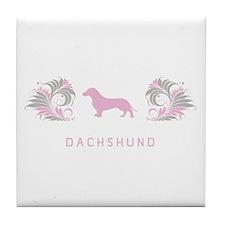 """Elegant"" Dachshund Tile Coaster"