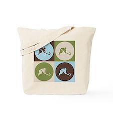 Field Hockey Pop Art Tote Bag