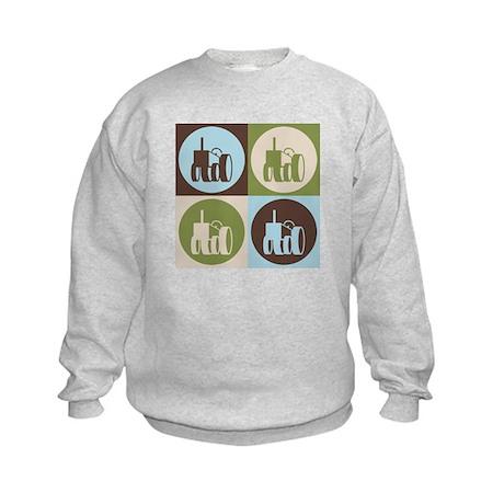Farming Pop Art Kids Sweatshirt