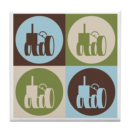 Farming Pop Art Tile Coaster