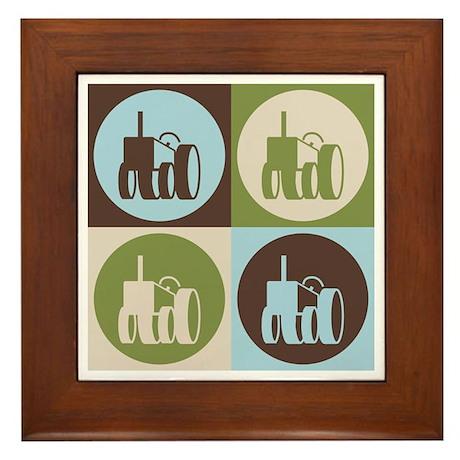 Farming Pop Art Framed Tile