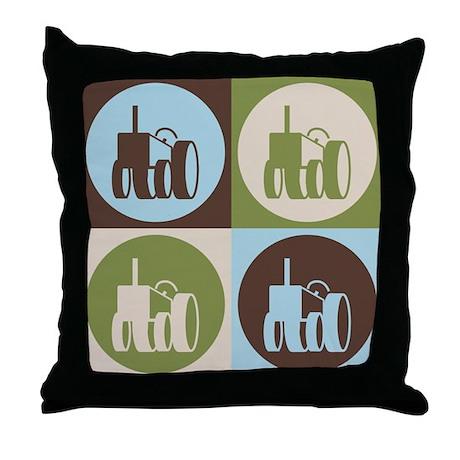 Farming Pop Art Throw Pillow