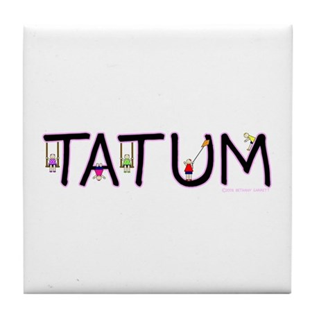 Tatum (Girl) Tile Coaster