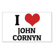 I Love John Cornyn Rectangle Decal