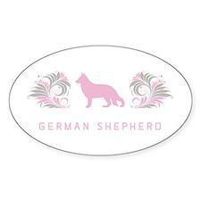"""""""Elegant"""" German Shepherd Oval Decal"""