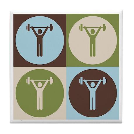 Exercise Pop Art Tile Coaster