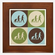 Evolutionary Biology Pop Art Framed Tile