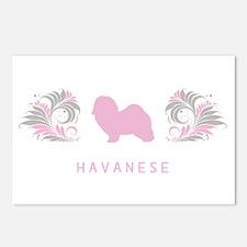 """""""Elegant"""" Havanese Postcards (Package of 8)"""