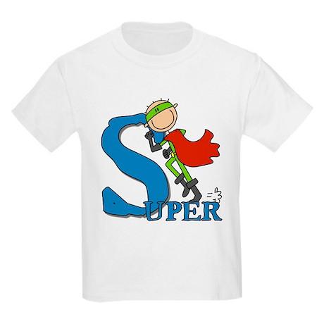 Super Stick Figure Hero Kids Light T-Shirt