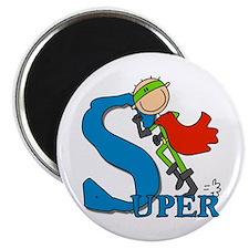 "Super Stick Figure Hero 2.25"" Magnet (100 pack)"