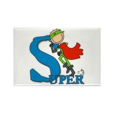 Super Stick Figure Hero Rectangle Magnet (10 pack)