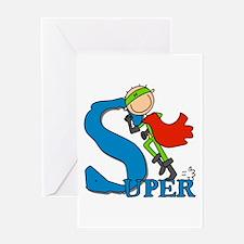Super Stick Figure Hero Greeting Card