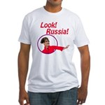 Sarah Palin: Look, Russia! Fitted T-Shirt