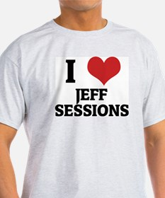 I Love Jeff Sessions Ash Grey T-Shirt