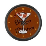 Bacon Martini Large Wall Clock