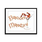 Bacon Martini Framed Panel Print