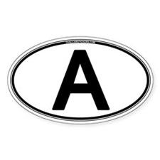 """A"" Euro Oval Oval Decal"