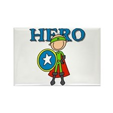 Hero Boy with Shield Rectangle Magnet