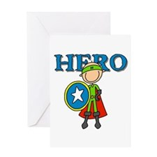 Hero Boy with Shield Greeting Card