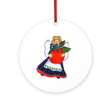 Angel Holding Apple Keepsake Ornament