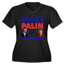 Quayle/Palin Special Ed Women's Plus Size V-Neck D