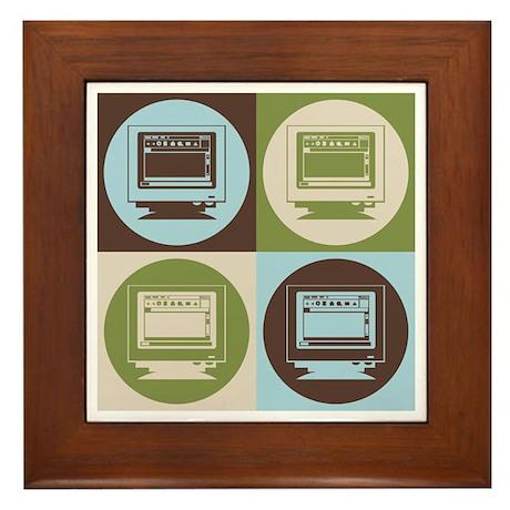 Desktop Publishing Pop Art Framed Tile