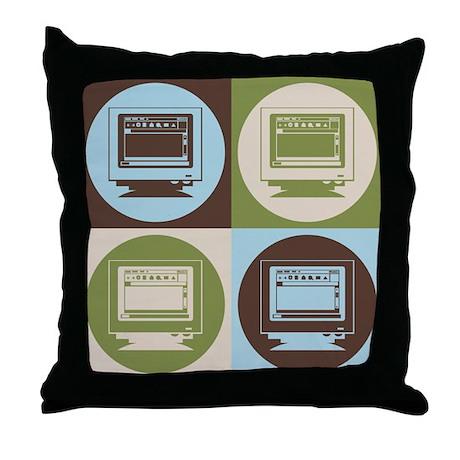Desktop Publishing Pop Art Throw Pillow