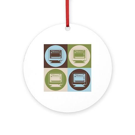 Desktop Publishing Pop Art Ornament (Round)