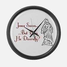 Jesus Saves...But... Large Wall Clock