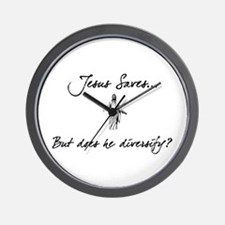 Jesus Saves...But... Wall Clock
